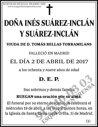Inés Suárez-Inclán y Suárez-Inclán
